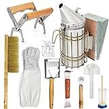 Camidy Juego de iniciación de apicultores, 10 unidades, pinceles y raspadores, guantes y jardinería, para el hogar y la apicultura