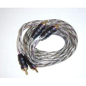 Phoenix Gold XSPS40, Twisted Pair Kabel RCA–4mm², männlich auf männlich, Länge: 4,00m