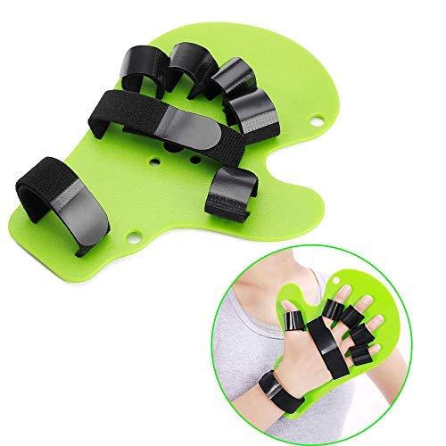Separatore per dita, tutore la neuropatia per riabilitazione parkinson estensione mano e polso, ortopedica per allenamento emiplegia Traumatic Brain lesioni (adatto per mano destra o sinistra)