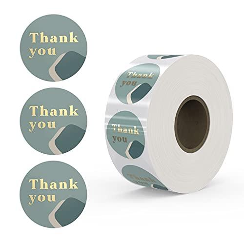 Rollo de pegatinas de agradecimiento Rileys | 500 unidades, papel dorado –...