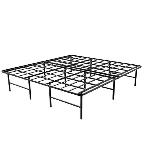 45MinST 16 Inch Platform Bed Frame/2 Brackets Included/ Mattress...