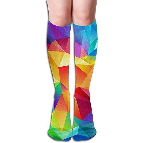 wwoman Tube High Keen Sock Bottes Crew Fonds d'écran colorés Chaussettes de compression Bas de sport longs