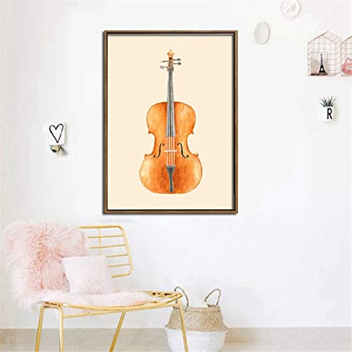 Sanzangtang Digitale afdruk grote gitaar muurschildering op canvas kunst muur olieverfschilderij woonkamer canvas frameloos