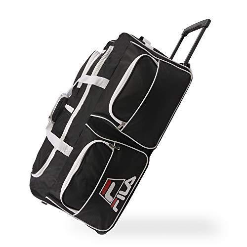 Fila 30' 8-Pocket Rolling Duffel, Black, One Size