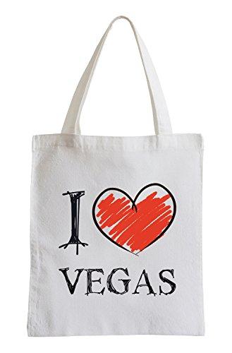 I Love Vegas Fun Sac de Jute