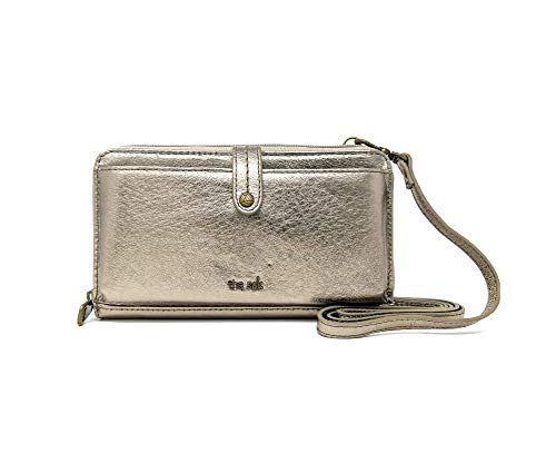 the sak Genuine Leather 3-in-1 Phone Wallet, Color: Pyrite