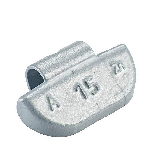 100x Poids marteau pour jantes en aluminium de type63 15g argentés | Poids marteau en aluminium poids d'équilibrage jante en aluminium | Poids d'équilibrage jantes en aluminium