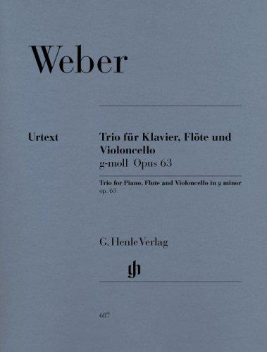 Trio G-Moll Op 63. Flöte, Violoncello, Klavier