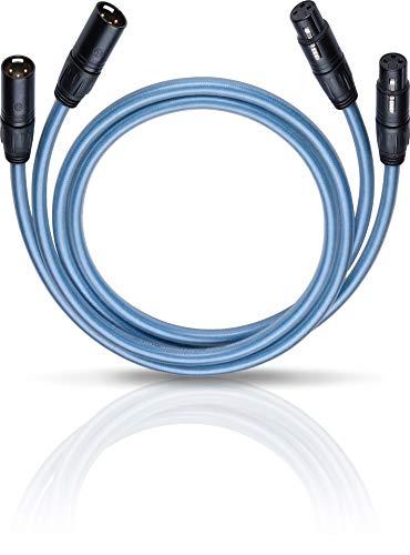 Oehlbach XXL Series 2 X 50 - high-end audiokabel met XLR-stekker - Made in Germany - CD-speler, voor-/eindversterker - 2 x 0,50 m - blauw
