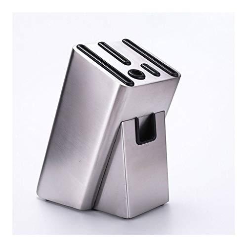 ZHANMAGS Bloque Universal para Cuchillos Casos de Bloque de Cuchilla vacíos Cajas de Bloqueo Encimera, 6 Ranuras Caja de Acero Inoxidable Conveniente de Almacenamiento Seguro para Cocina casera 0429
