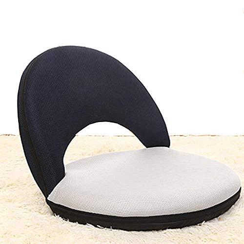 HUAXUE ZHXZHXMY Mobiliario de Ocio para el hogar Plegable Silla Suelo 5-posición de la Silla Ajustable for Lazy Lectura Ver la TV Cojín del Respaldo (Color: B) (Color : D)