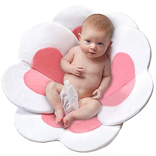 Baby Bath Flower Sink Insert Baby Bath Lotus Soft Kitchen Sink Bath Petal Baby Girl Shower Flower Quick Dry Pink