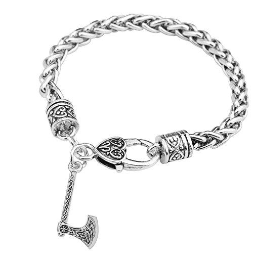 Konstruktion Perun Axt Amulett slawischen kolowrat Symbol Irischer Knoten Viking Achsen Jewelry Charm-Armbänder Talisman