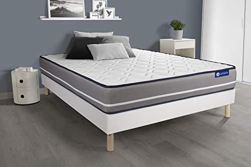 Pack colchón Actiflex Pur 135x200cm + Somier multiláminas, Muelles ensacados, 3 Zonas de Confort