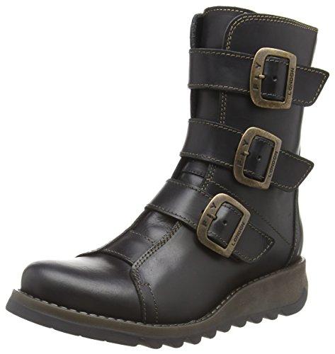 FLY London Damen SCOP110FLY Biker Boots, Schwarz (Black 000), 40 EU