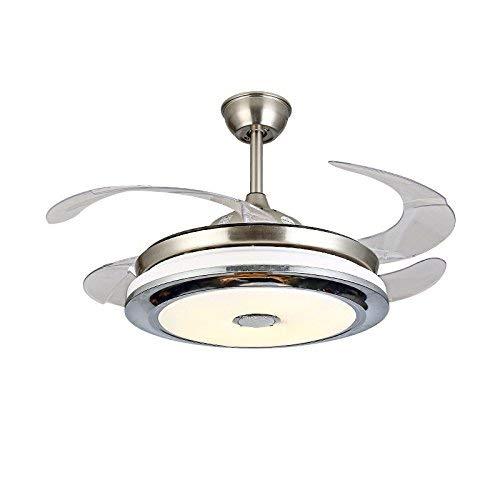 Oudan Iluminación/Estéreo Bluetooth/Ventilador/Candelabro/Ventilador/Lámpara Led de Inicio, Control de Pared + Altavoz Bluetooth (Color : Wall Control, tamaño : -)