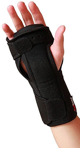 AidBrace Night Wrist Sleep Support Brace - Fits Both Hands - Cushioned to Help with Carpal Tunnel and Relieve and Treat Wrist Pain - Adjustable