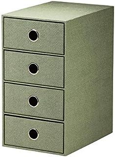 Rössler S.O.H.O. 1524452674 Boîte de rangement à 4 tiroirs pour format A5 avec trou de préhension