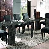 Mueble consola extensible de 250 cm, color gris oscuro, diseño Urban
