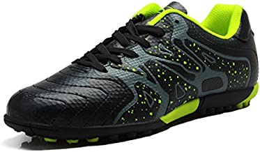 T&B Soccer Shoes Cleats Kids Indoor Sports Football Boots Low-Top Black 75523-HEI-34-2.5 US