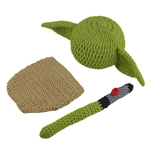 Newborn Infant Baby Photography Prop Crochet Knit Hat Diaper Costume Set