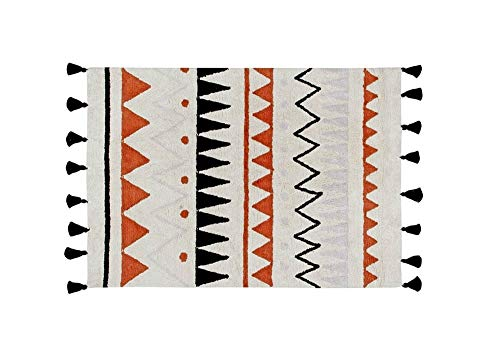 Lorena Canals Naturel aztèque Lavable Tapis, Coton, Terre Cuite, 120 x 160 x 30 cm