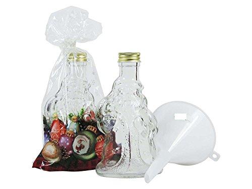 8 Weihnachtsmannflaschen 200 ml - inkl. Geschenktüten und Trichter