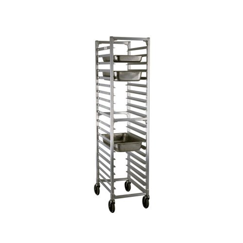 "Newage Industrial 1505 Steam Table Pan Rack, Full Size, 20 Pan Capacity, 3"" Spacing, End Load"