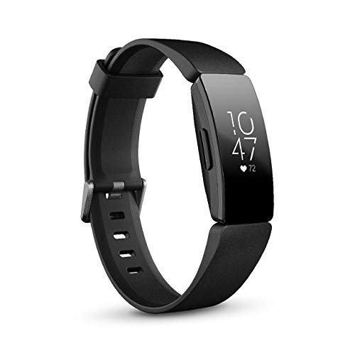 Fitbit Inspire HR Heart Rate & Fitness Tracker, One Size - S & L Bands Included (International Version) (Renewed)