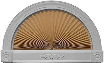 """Redi Shade 3606574, Natural, 72"""" x 36"""" Original Arch Light Filtering Pleated Fabric Shade"""