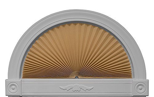"Redi Shade 3606574 Natural, 72"" x 36"" Original Arch Light Filtering Pleated Fabric Shade,"