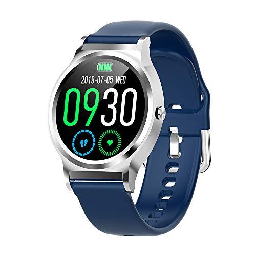 Cybill Smartwatch,1.3 Zoll Touch-Farbdisplay Fitness Armbanduhr mit Pulsuhr Fitness Tracker IP67 Wasserdicht Sportuhr Smart Watch mit Schrittzähler, Stoppuhr, Schlafmonitor für Herren Damen