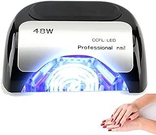 48W Nail Dryer-Lumcrissy Professional Automatic Sensor Quikly Dry Diamond Shaped CCFL & LED UV Nail Lamp (UV & LED 2 in 1 Nail Gel Lamp), Curing Nail Dryer for LED UV Gel Nail Polish nail tools (Black)