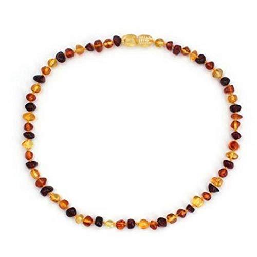 Regalos Hechos a Mano para mamá Collar báltico para Adultos Collar/Pulsera de ámbar - 7 tamaños Disponibles-Sin Miel_Collar de Adulto de 40 cm