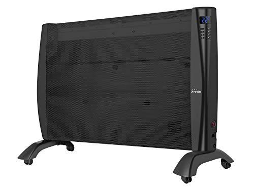 PURLINE RMD 2000 B Radiador de mica digital programable de 2000W con ruedas de color negro