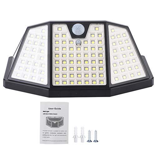 Lámpara de pared solar, ABS + PC 16x6.5x10.5cm -20~45 ℃ Luz del sensor de movimiento para el patio de jardín del camino al aire libre