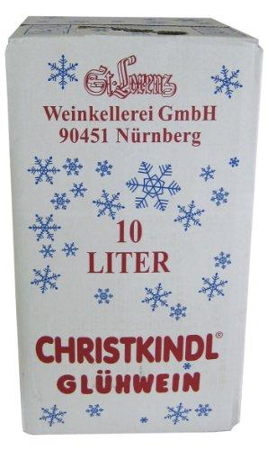 St. Lorenz Christkindl Glühwein 10 Liter Weinbox mit Ausgießer