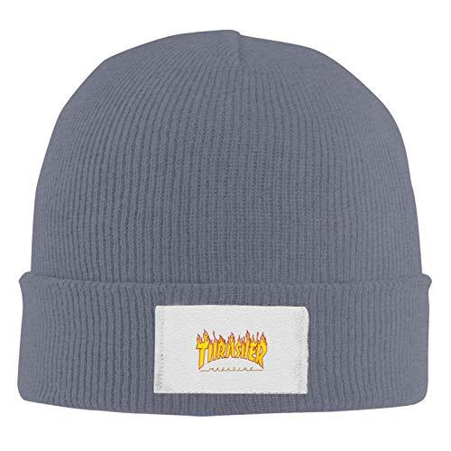 Soft Cotton Beanie Thrashe Unisex Stretchy Strickmütze Cap Acryl Watch Hat