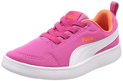 Puma Sneakers Bambino COURTFLEX Mesh PS 364277.17 (34-17 Fucsia-White)