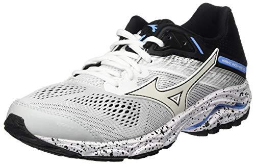 Mizuno Wave Inspire 15 Stabilitätsschuh Damen - Hellgrau, Schwarz, Women's Running shoes stability shoe, white/white/black, 4 UK (36.5 EU)