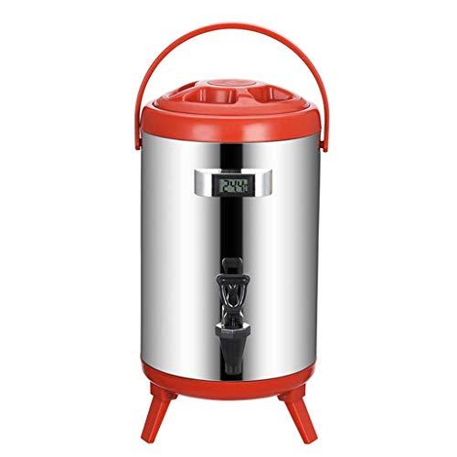Daul-Schicht Edelstahl isolierte Getränkespender, Isolationen bucket mit Temperaturanzeige und dem Harz Wasserhahn, verwendet for die Lagerbehälter heißen Tee und Kaffee, kalte Milch, Wasser, Saft, et