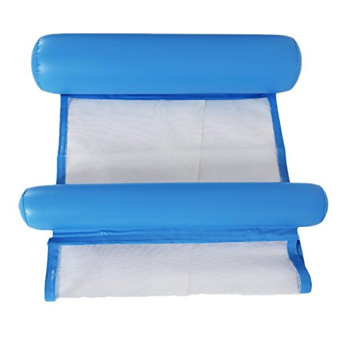 Ntribut Inflatable Swimming Pool Air Bed Pool Float Row Water Mesh Hammock Water Lilo Mat Pad Pool Loungers Toy