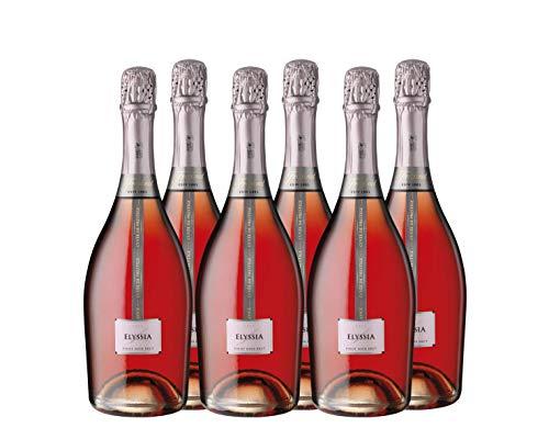 Freixenet Elyssia Cava Rosado Pinot Noir - 6 Botellas de 750 ml - Total: 4500 ml