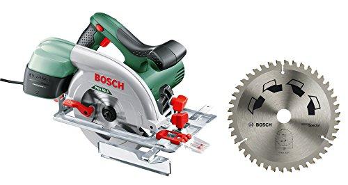 Bosch Kreissäge PKS 55 A (Cut Control, Hartmetallsägeblatt, Parallelanschlag, CleanSystem Box, 1200 Watt) + Bosch Kreissägeblatt Special (Blatt-Ø: 160 mm, 42 Zähne, Schnittbreite: 2,5 mm)