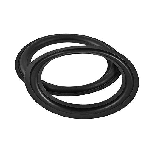 Zerone 2pcs 8inch Perforated Rubber Speaker Foam Edge Surround Rings Replacement Parts for Speaker Repair or DIY (Black)
