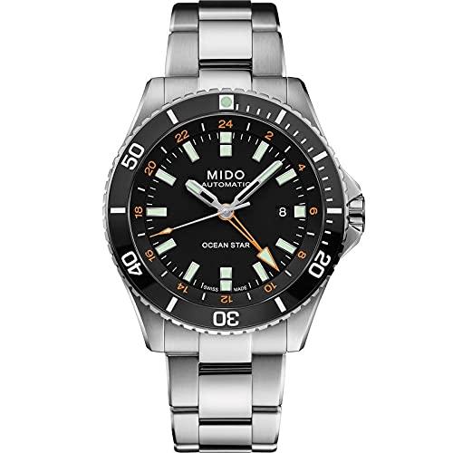 Mido orologio Ocean Star Captain GMT 44mm Nero automatico Acciaio M026.629.11.051.01