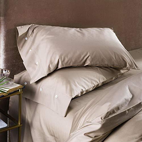 WANGYUEGUANG Einfache Kissenbezug Reine Baumwolle Reine Farbe Kissenbezug Baumwolle Knopf Kissenbezug (2 stücke)