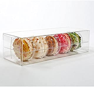 ClearBags 2 x 2 x 7 Clear French Macaron Boxes | Clear PET Plastic Boxes for Weddings, Parties, Baby Showers | Party Favor Boxes for Macarons Cookies Mini Donuts | Holds 5 Macarons | MBS1A | 25 Boxes