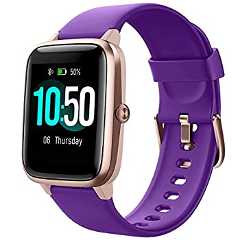 YAMAY Smart Watch Fitness Tracker Watches for Men Women Fitness Watch Heart Rate Monitor IP68 Waterproof Watch with Step Calories Sleep Tracker Smartwatch Compatible iPhone Android Phones  Purple