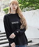 ベース ステーション(レディス)(BASE STATION Ladies) 別注 KANGOL カンゴール ビッグシルエット ミニ裏毛ロンT【ブラック(019)/99(FREE)】